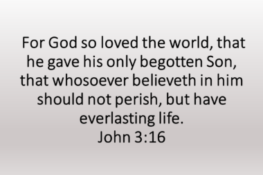 Salvation Through Jesus Christ